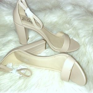 New brash shoes size 12 nude block heel
